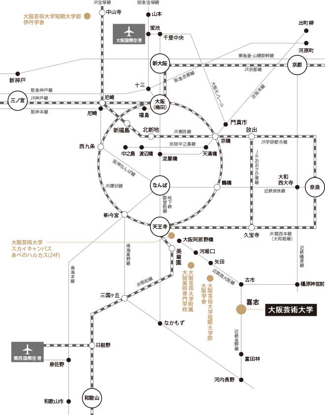 主要ターミナル図